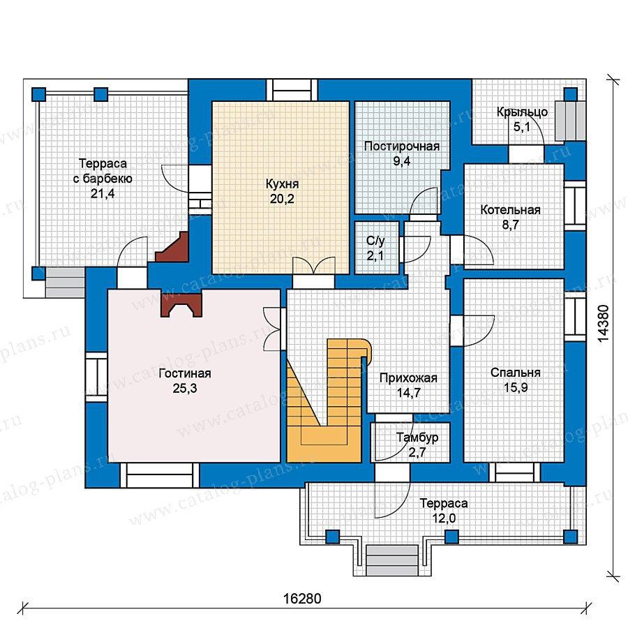План 1-этажа проекта 49-56