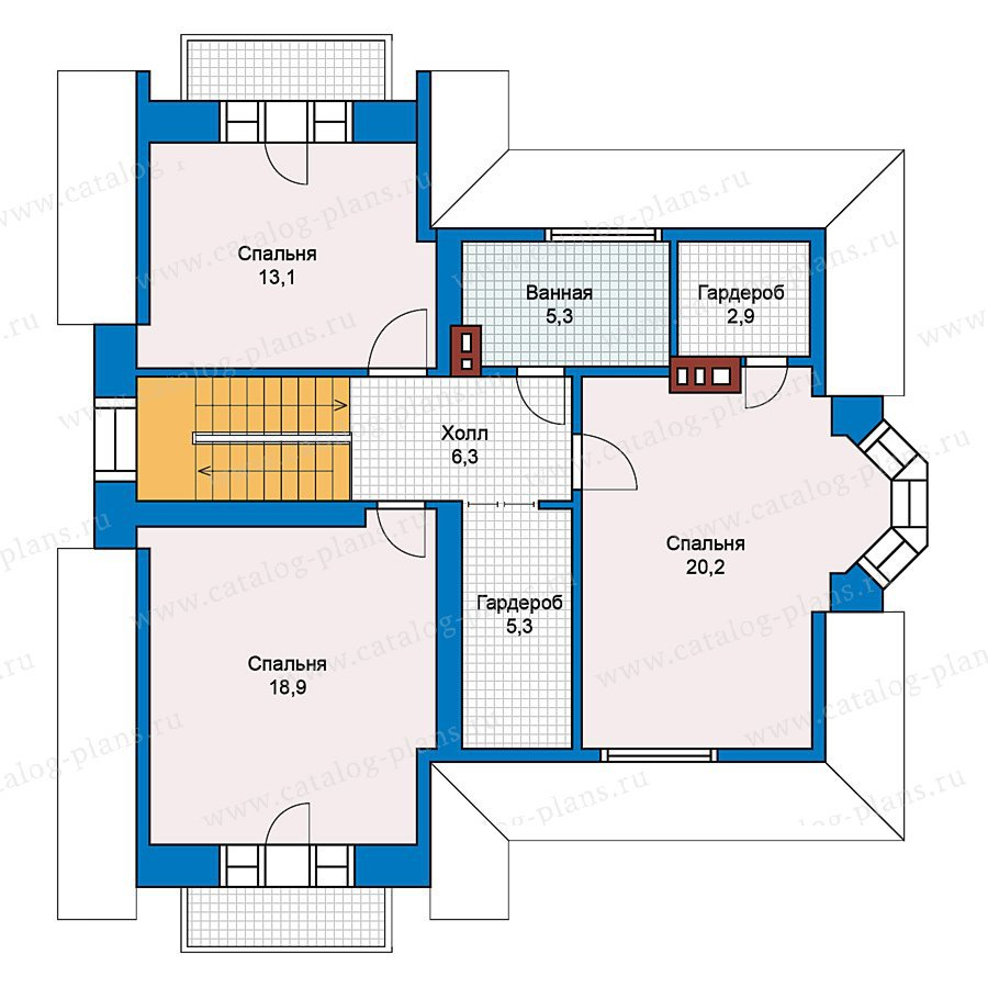 План 2-этажа проекта 49-59