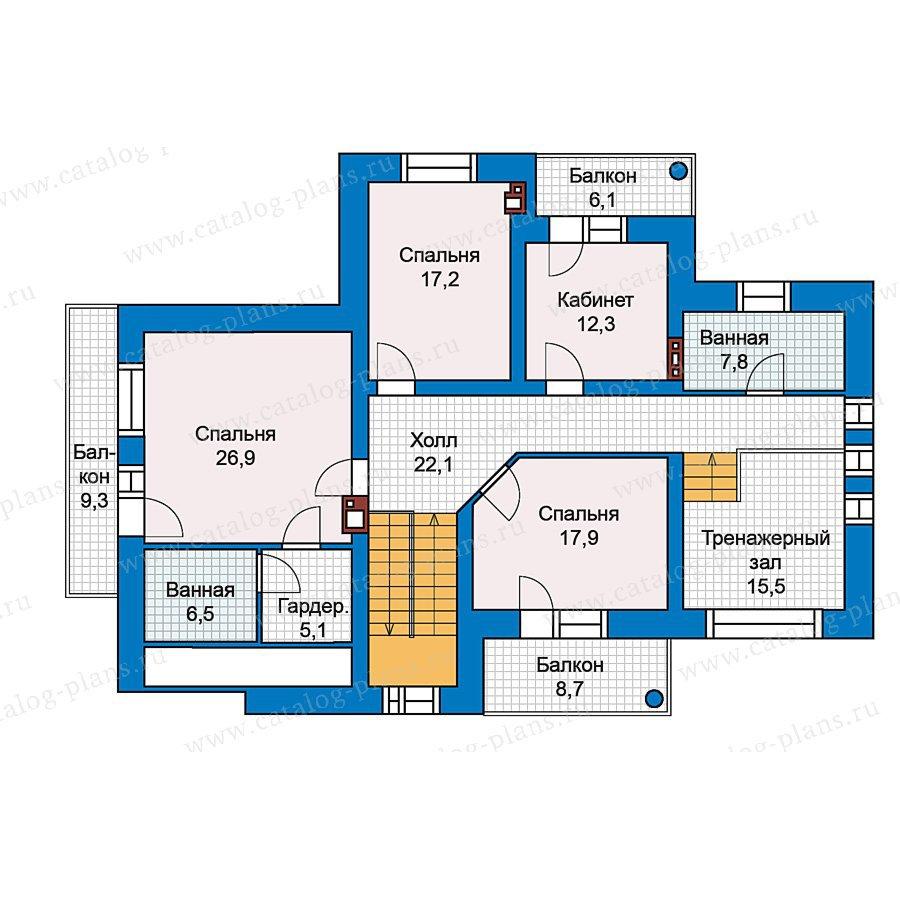 План 2-этажа проекта 49-76