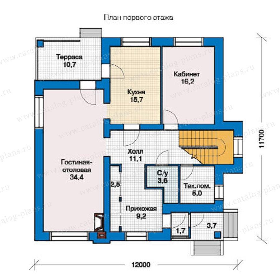 План 1-этажа проекта 49-45