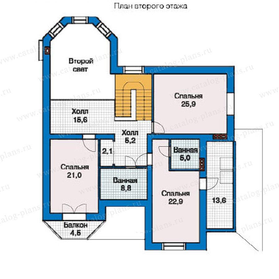 План 2-этажа проекта 49-46