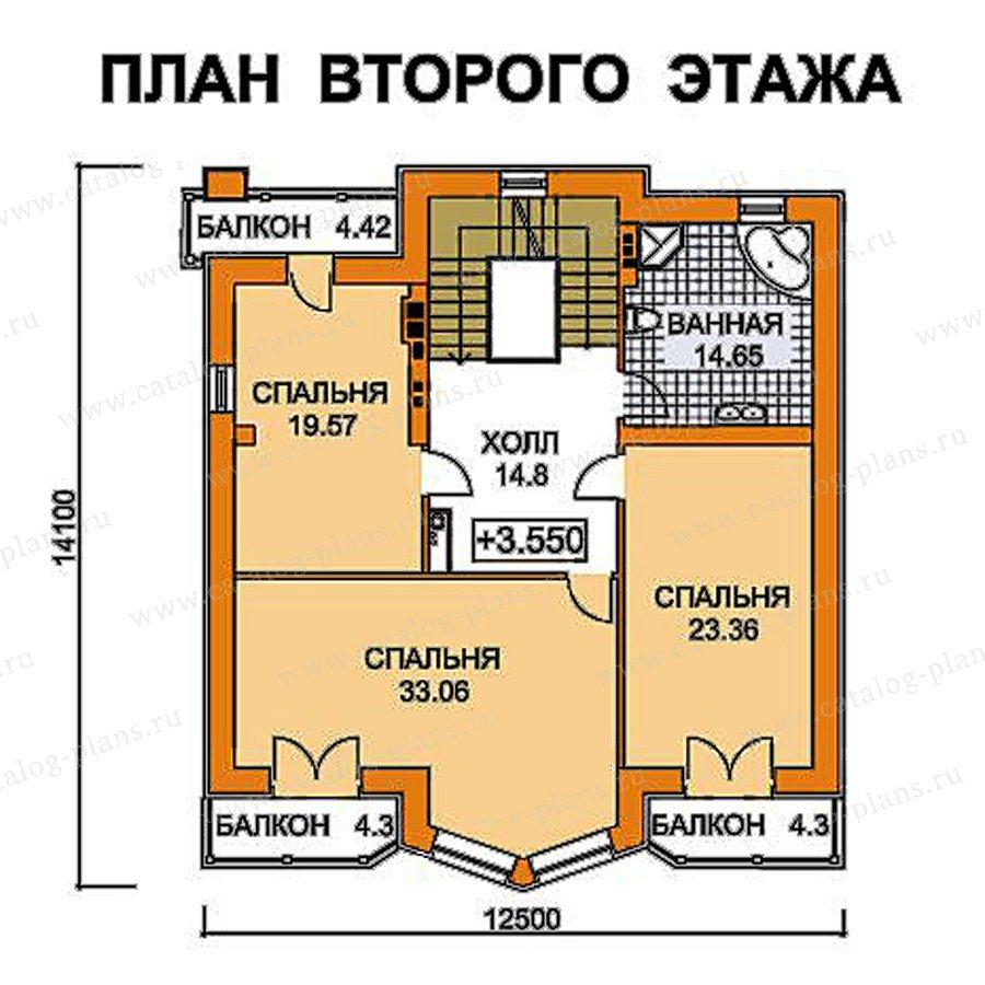План 3-этажа проекта 49-75