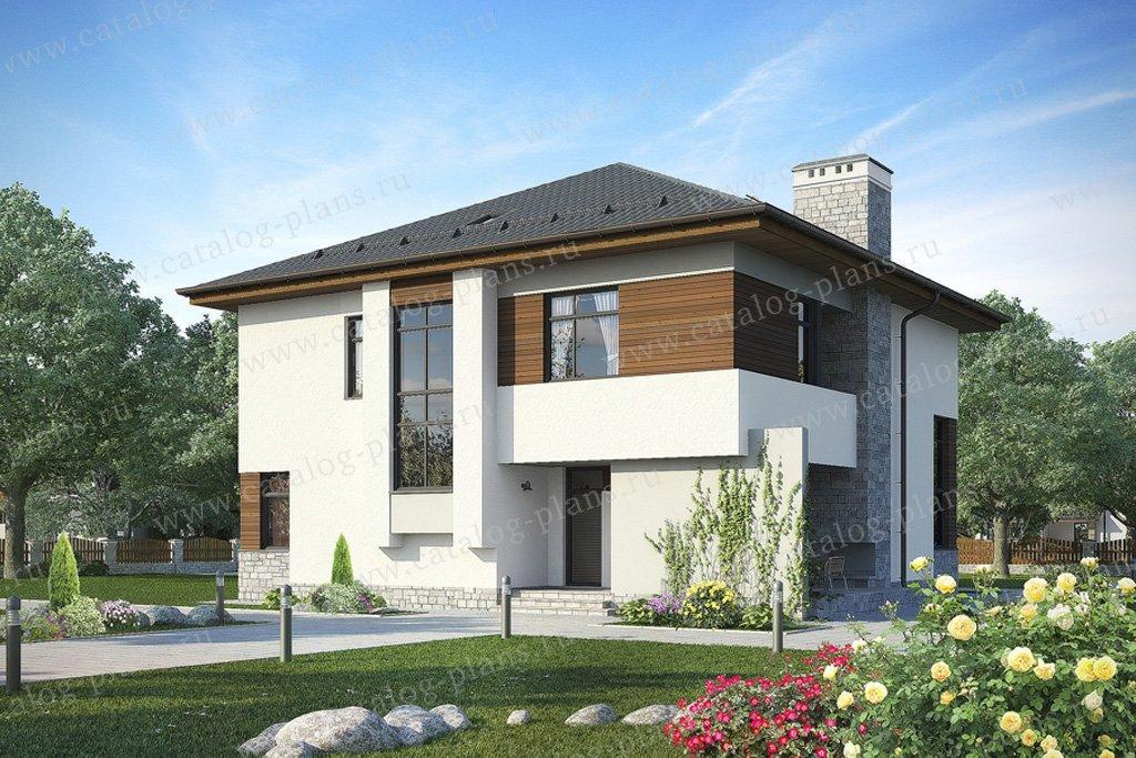 Проект жилой дом #49-93 материал - кирпич, стиль современный