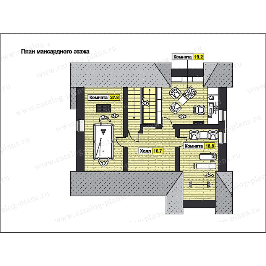 План 3-этажа проекта 49-80