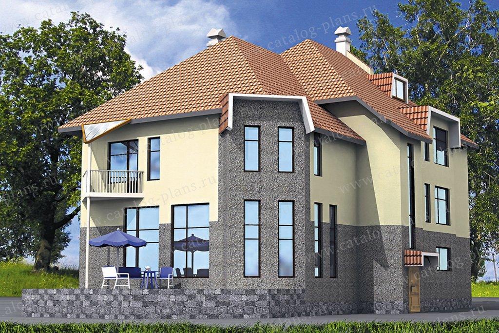 Проект жилой дом #50-16 материал - газобетон, стиль европейский