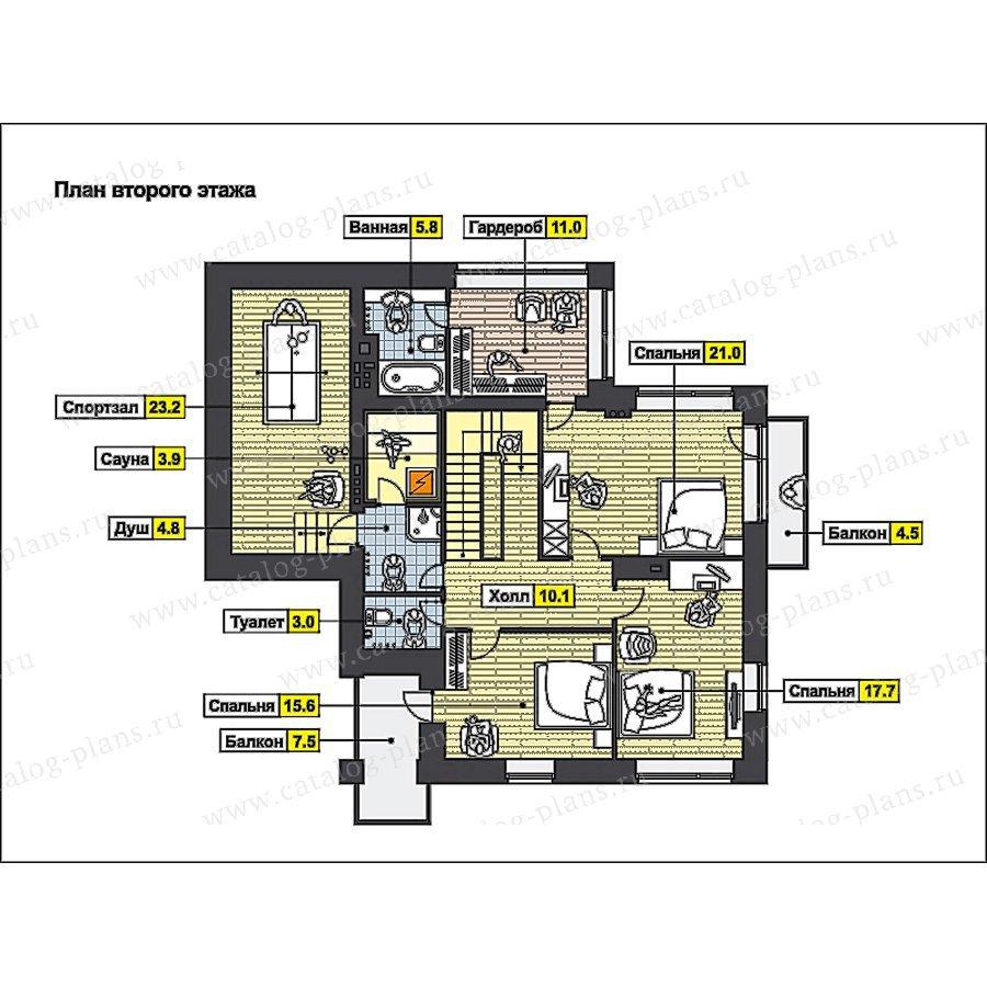План 3-этажа проекта 49-88