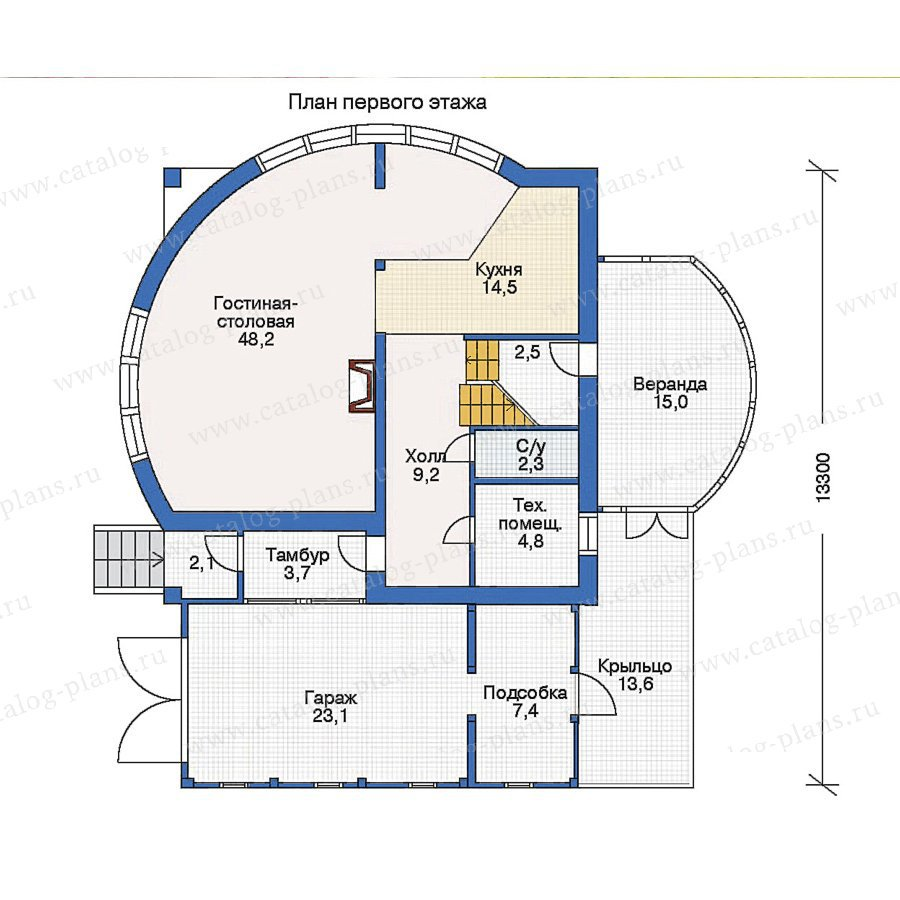 План 1-этажа проекта 50-12