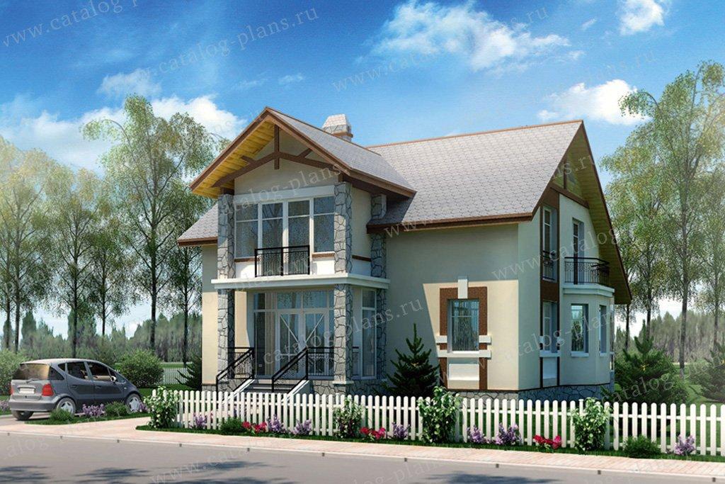 Проект жилой дом #50-08 материал - кирпич, стиль скандинавский