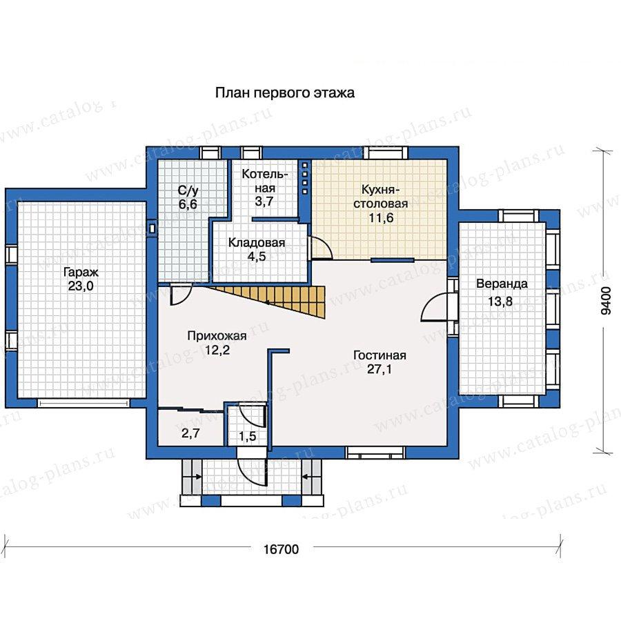 План 1-этажа проекта 50-20