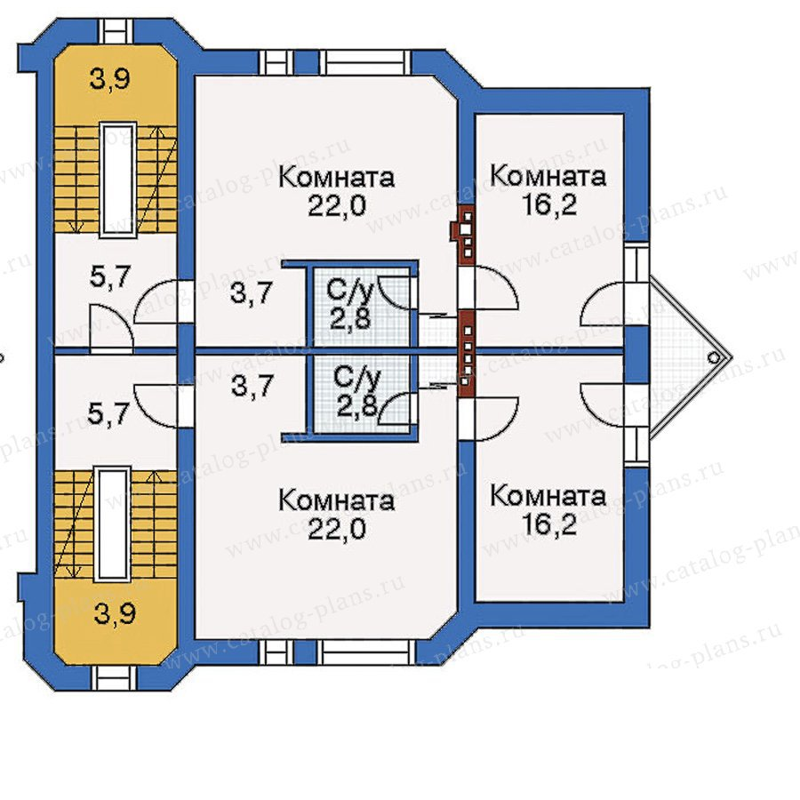 План 3-этажа проекта 50-16