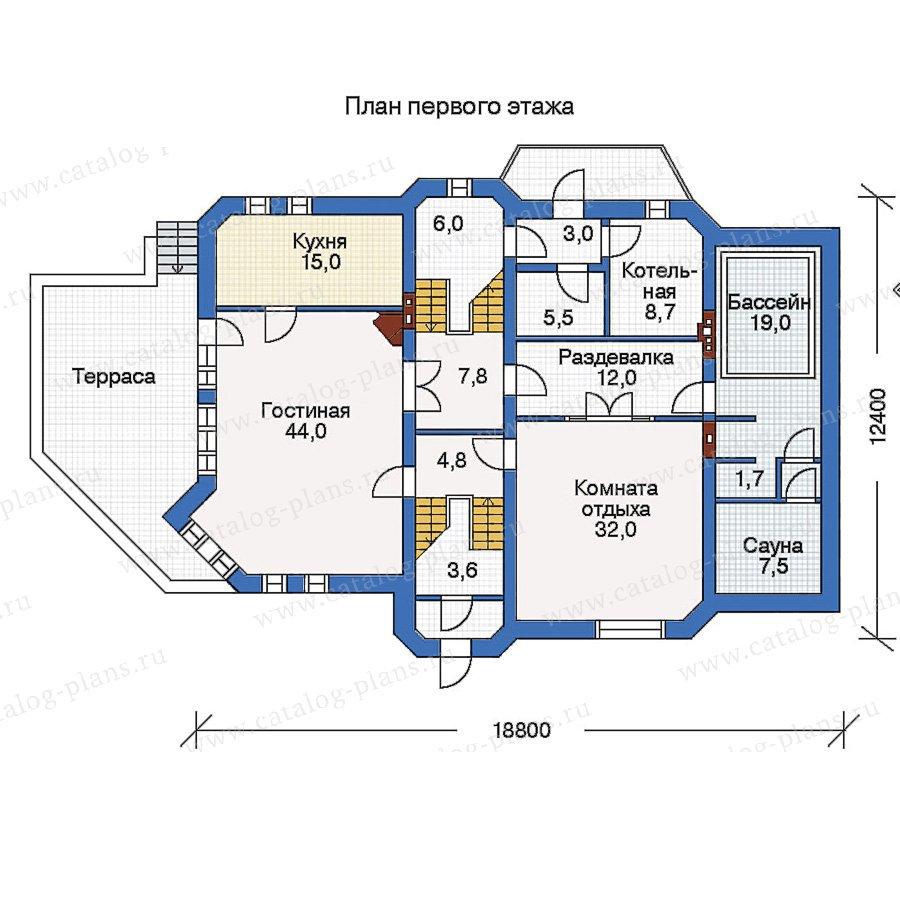 План 1-этажа проекта 50-16