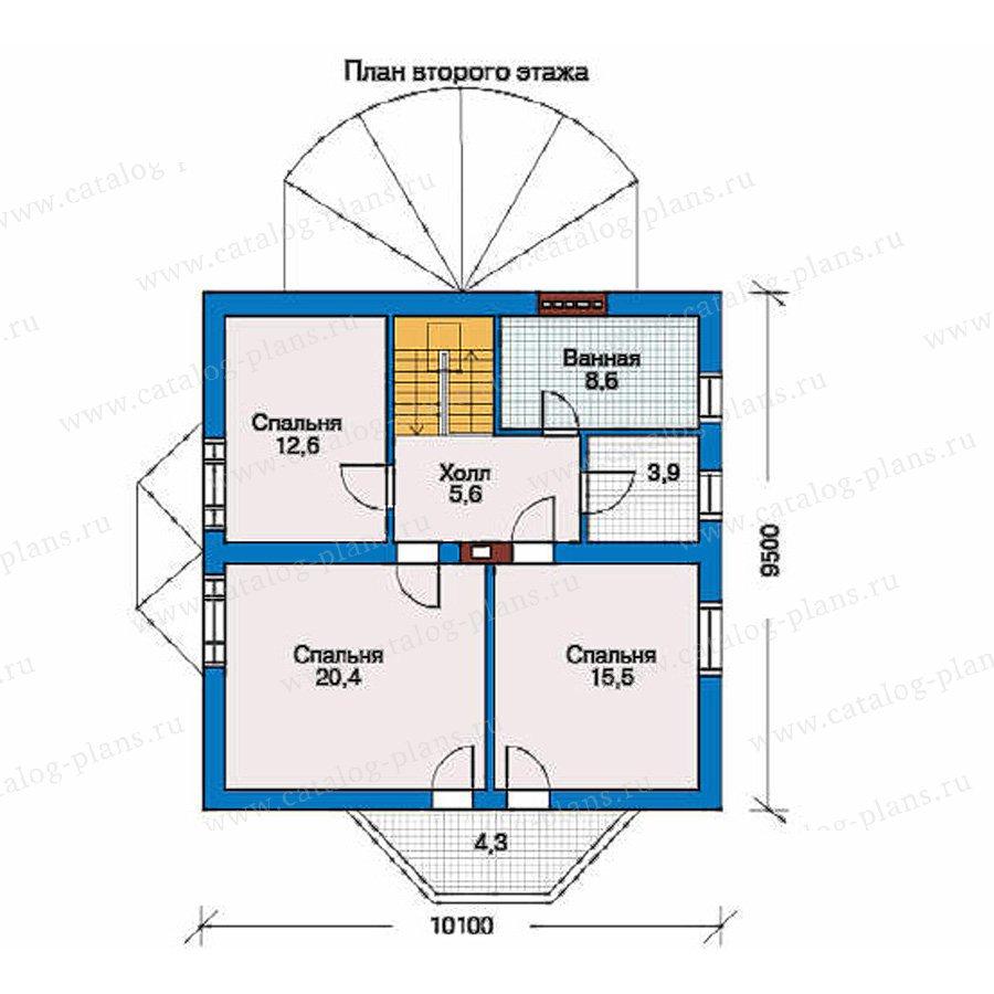 План 2-этажа проекта 50-65