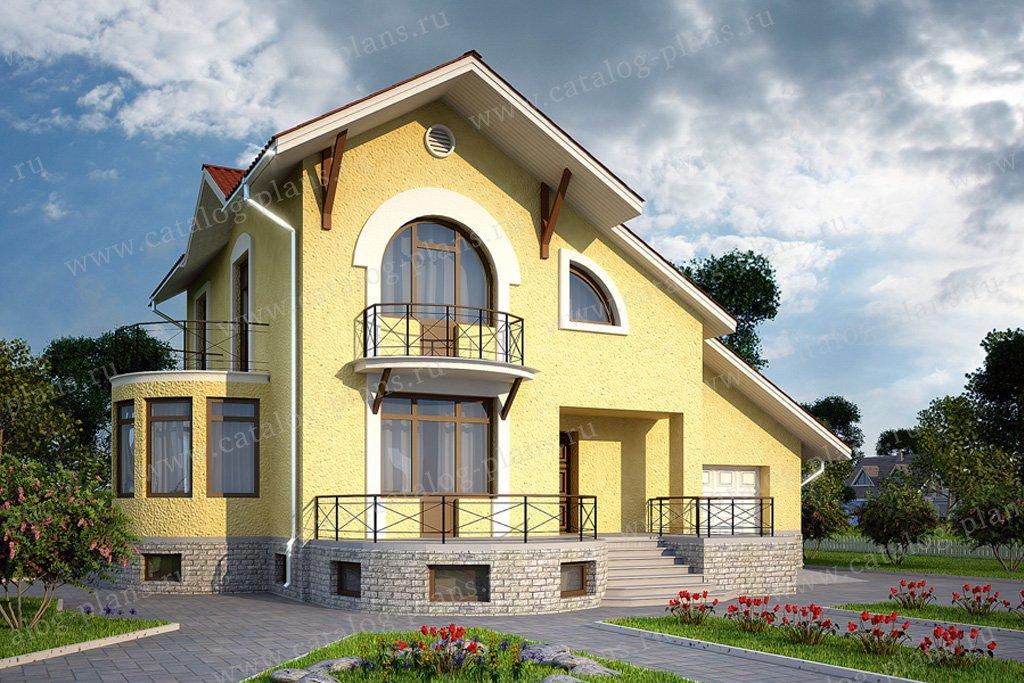 Проект жилой дом #50-21 материал - газобетон, стиль европейский