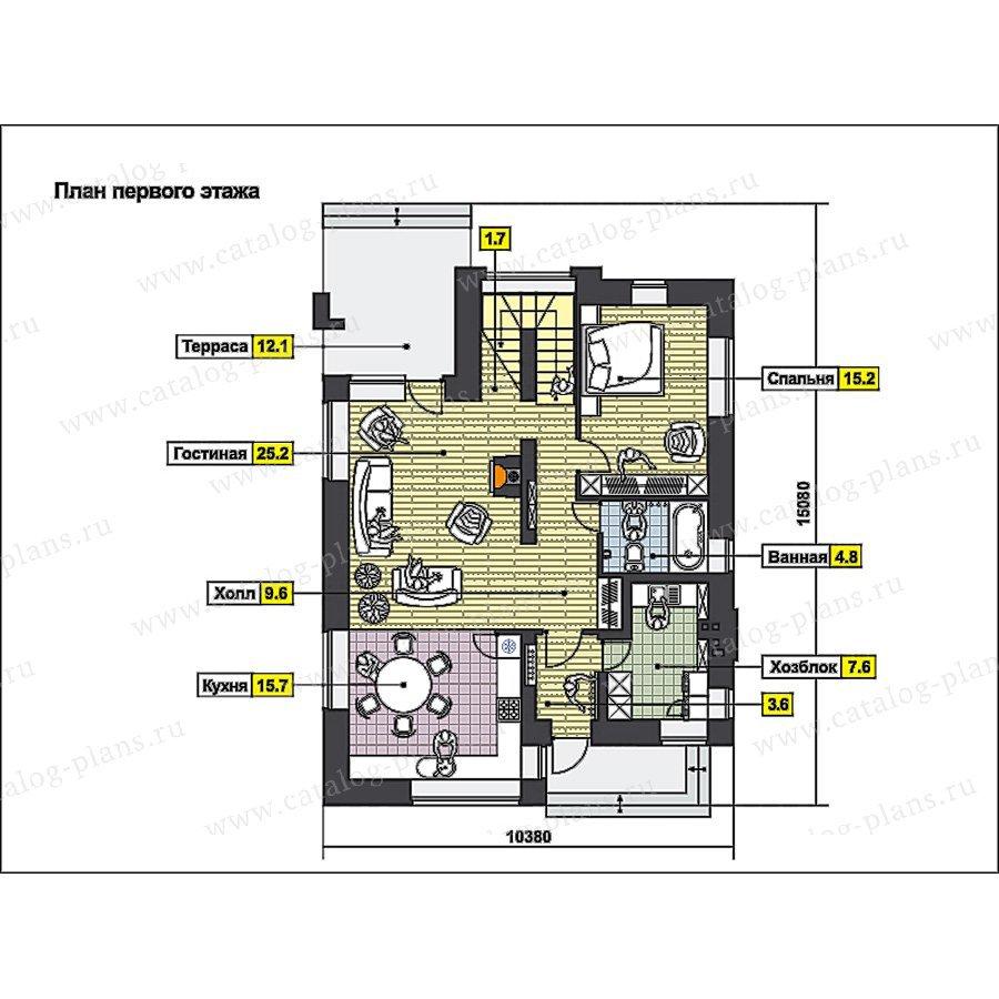 План 1-этажа проекта 49-96