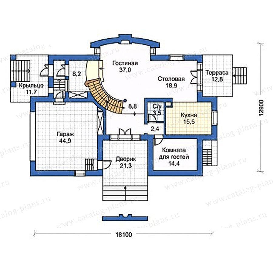 План 1-этажа проекта 50-24