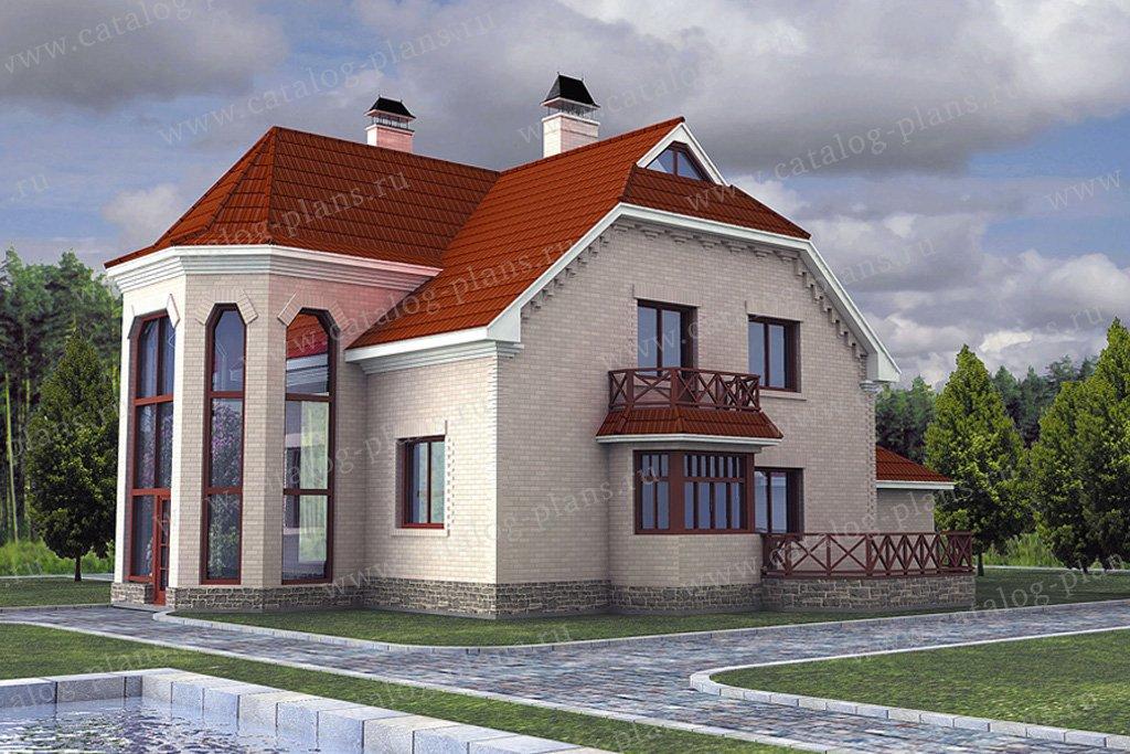 Проект жилой дом #50-60 материал - газобетон, стиль европейский