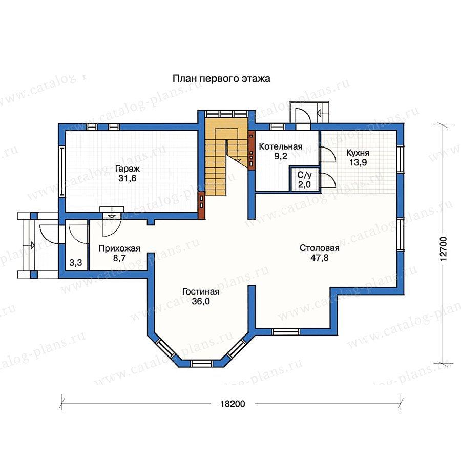 План 1-этажа проекта 50-18
