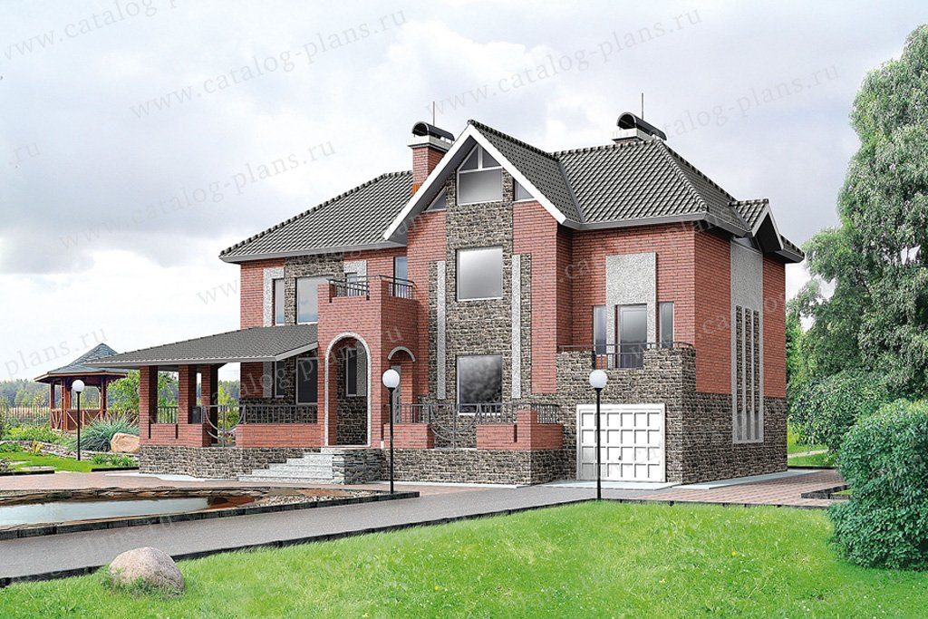 Проект жилой дом #50-43 материал - газобетон, стиль европейский