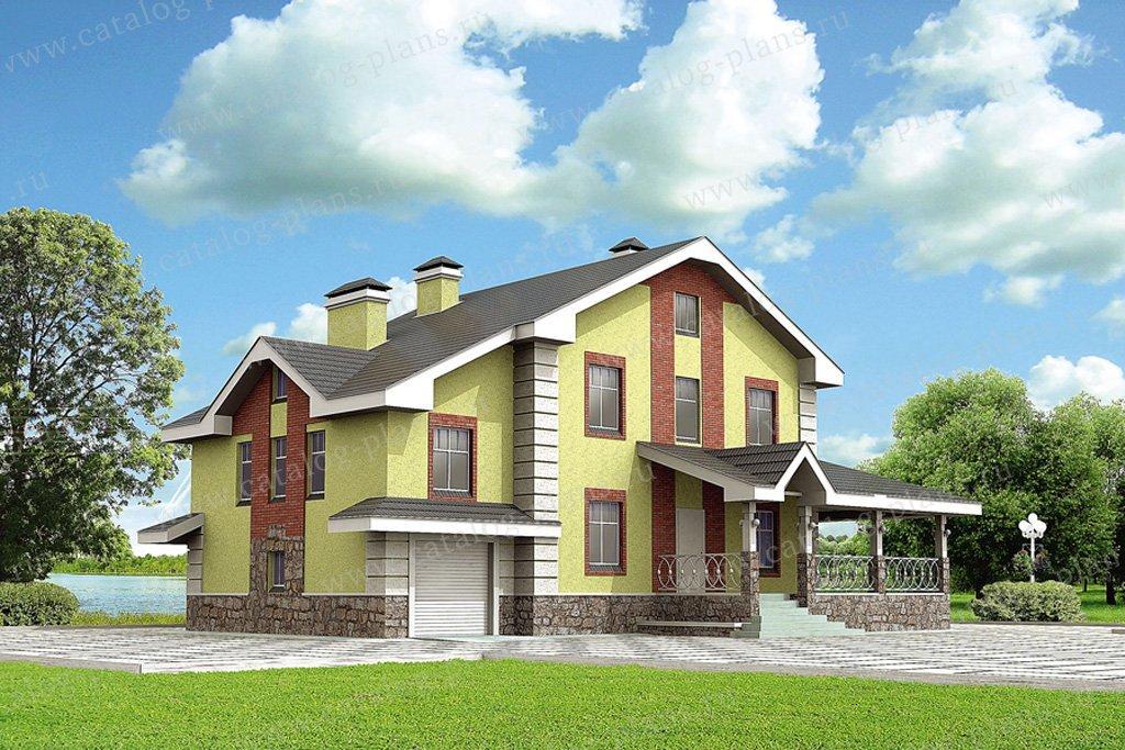 Проект жилой дом #50-82 материал - газобетон, стиль европейский
