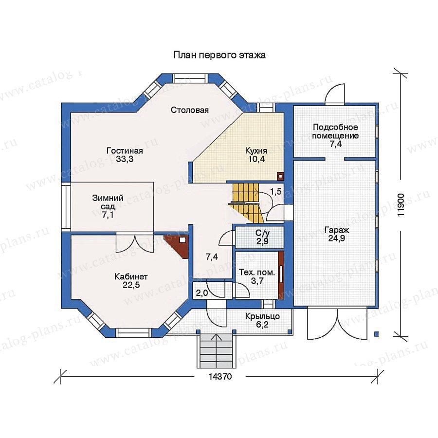 План 1-этажа проекта 50-02