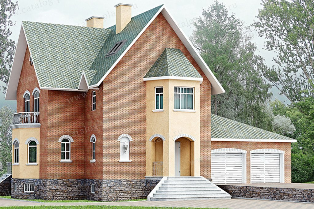 Проект жилой дом #50-62 материал - газобетон, стиль европейский