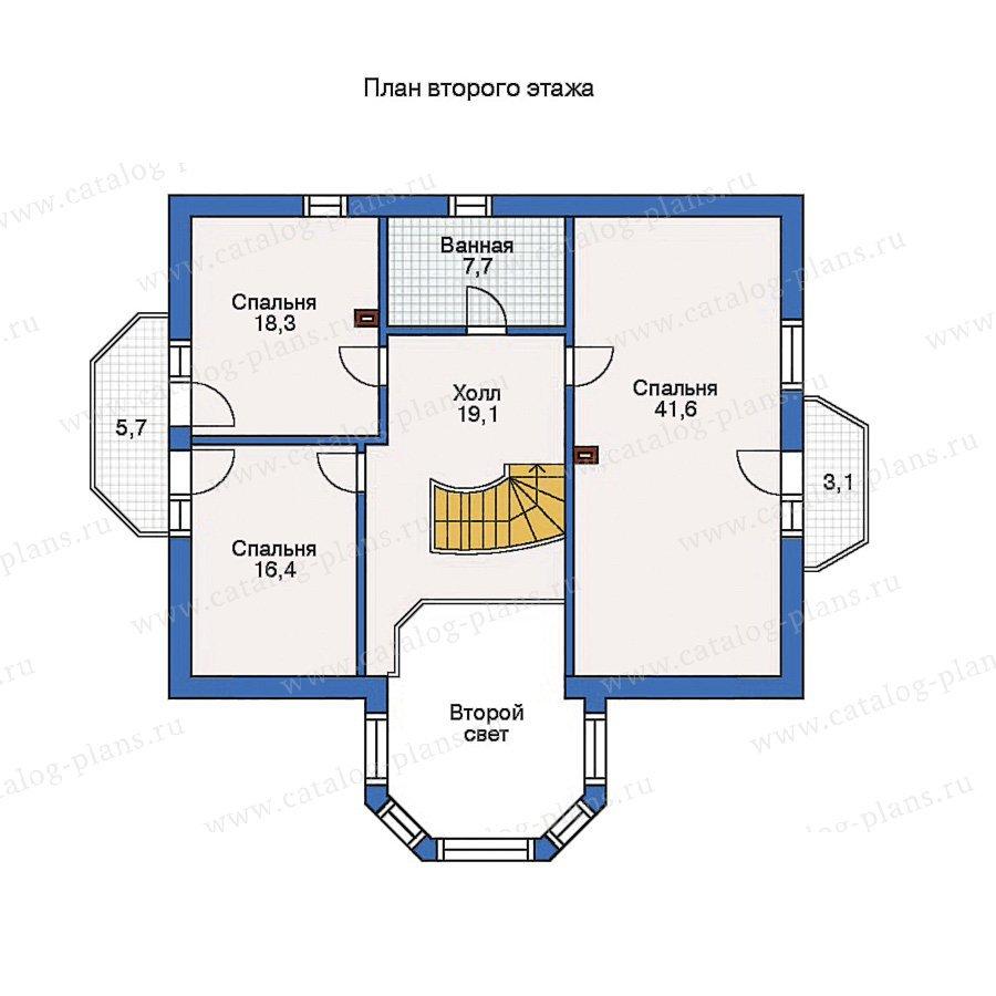 План 2-этажа проекта 50-60
