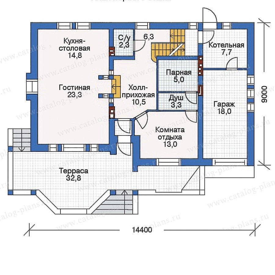 План 2-этажа проекта 50-43