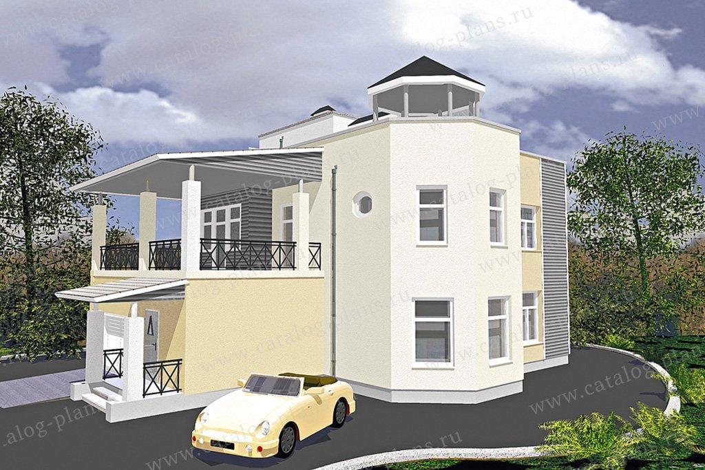 Проект жилой дом #50-18 материал - газобетон, стиль современный