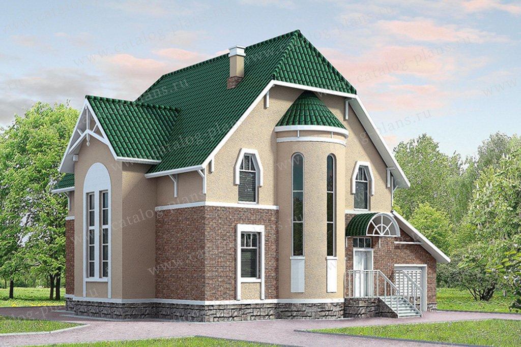 Проект жилой дом #50-68 материал - газобетон, стиль европейский