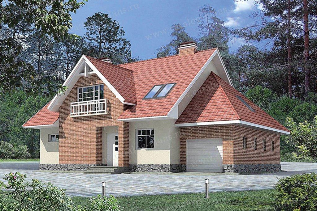 Проект жилой дом #50-85 материал - газобетон, стиль европейский
