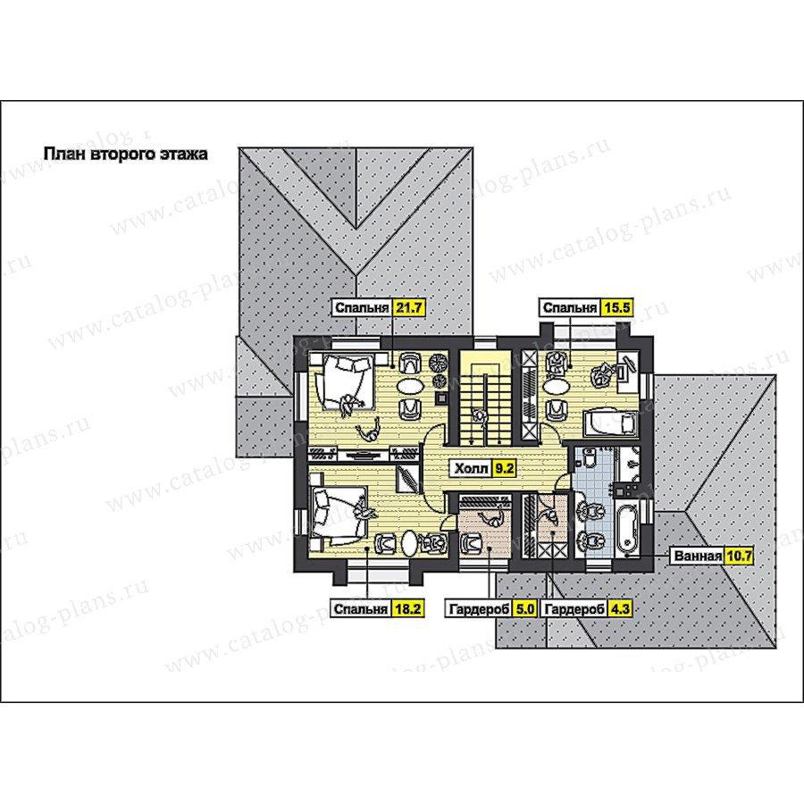 План 2-этажа проекта 49-91
