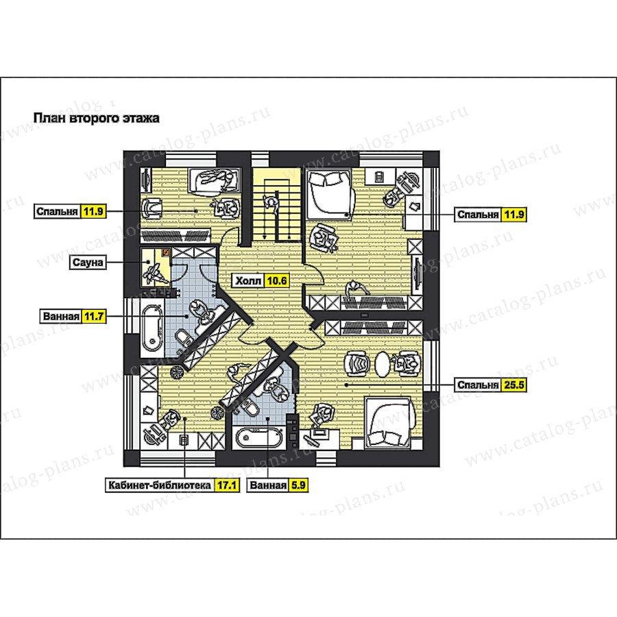 План 2-этажа проекта 49-92