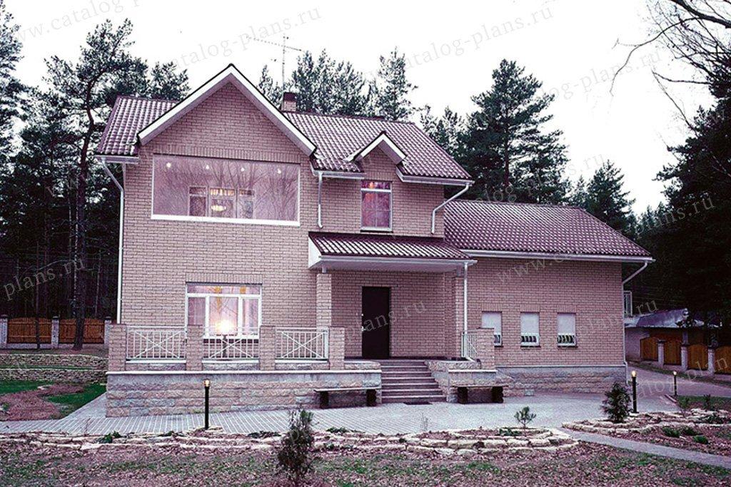 Проект жилой дом #50-17 материал - газобетон, стиль европейский