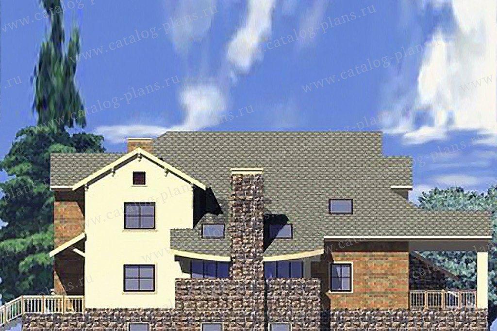 Проект жилой дом #50-24 материал - газобетон, стиль скандинавский