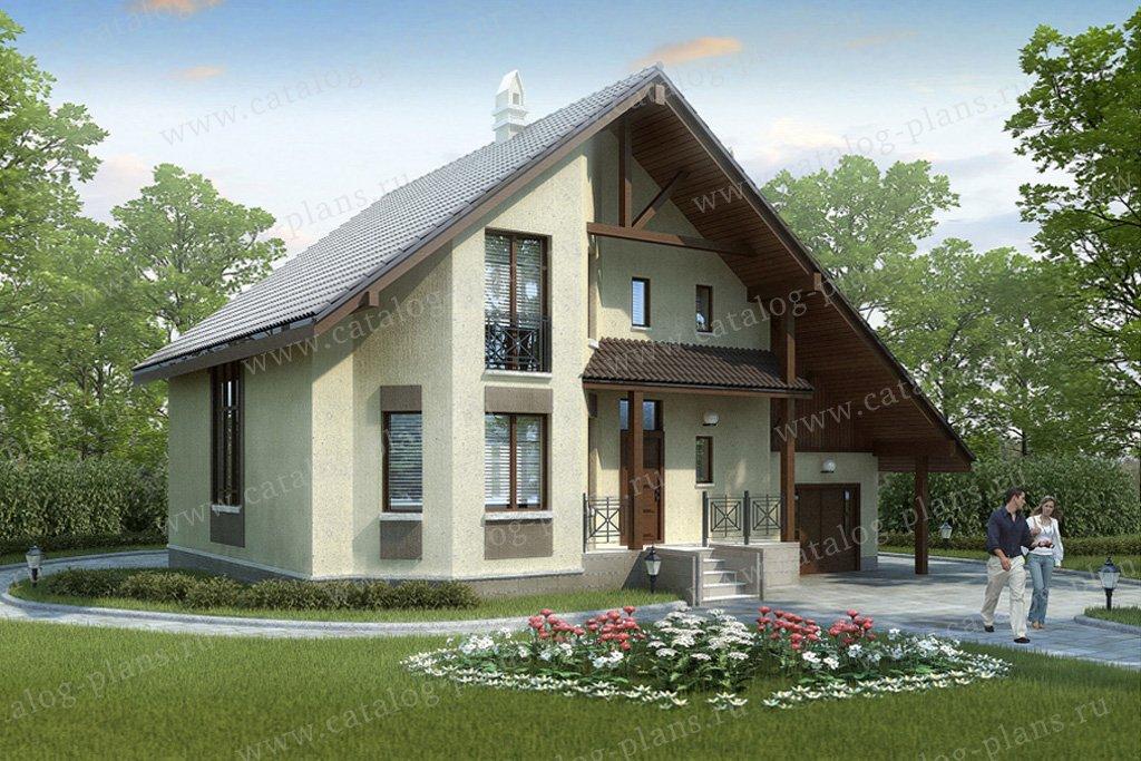 Проект жилой дом #50-02 материал - газобетон, стиль скандинавский