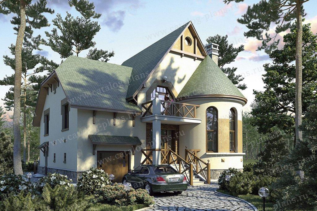 Проект жилой дом #50-65 материал - газобетон, стиль средневековый