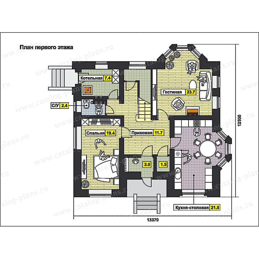 План 1-этажа проекта 49-82