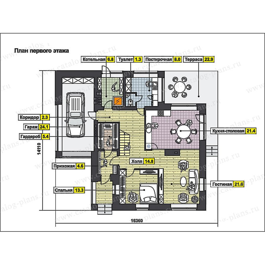 План 2-этажа проекта 49-88