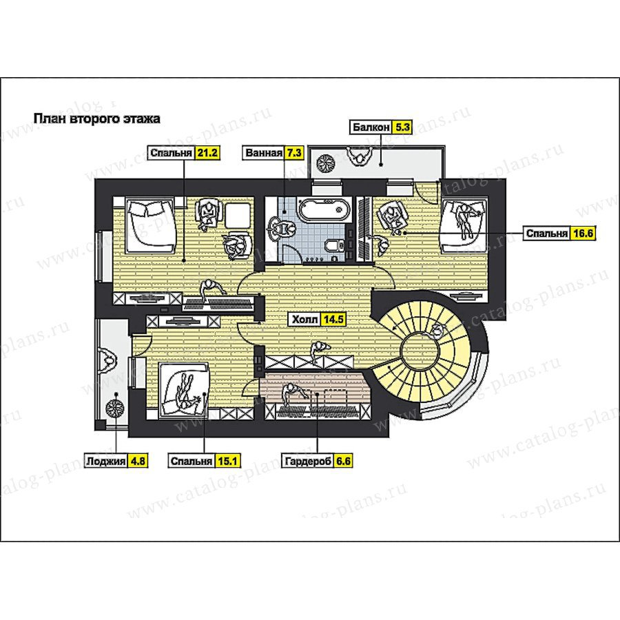 План 2-этажа проекта 49-85
