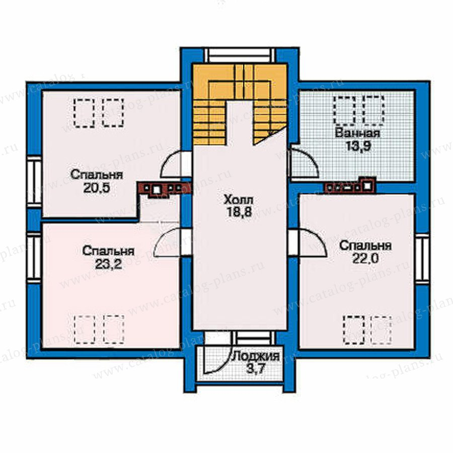 План 2-этажа проекта 50-95