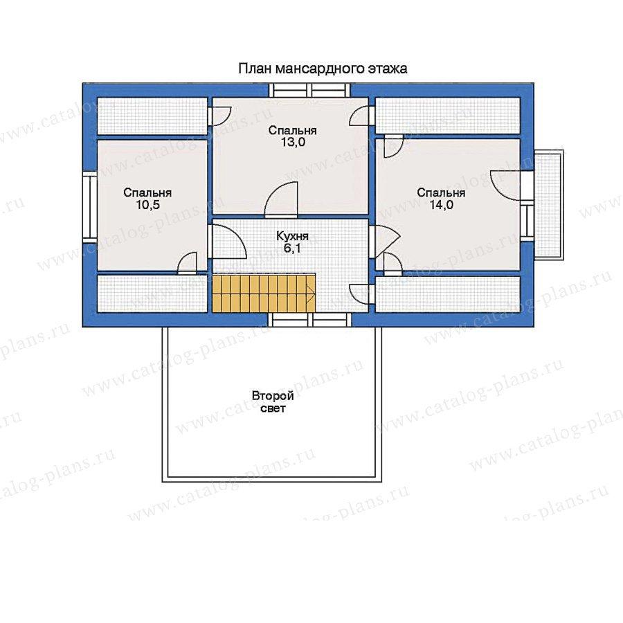 План 2-этажа проекта 51-13