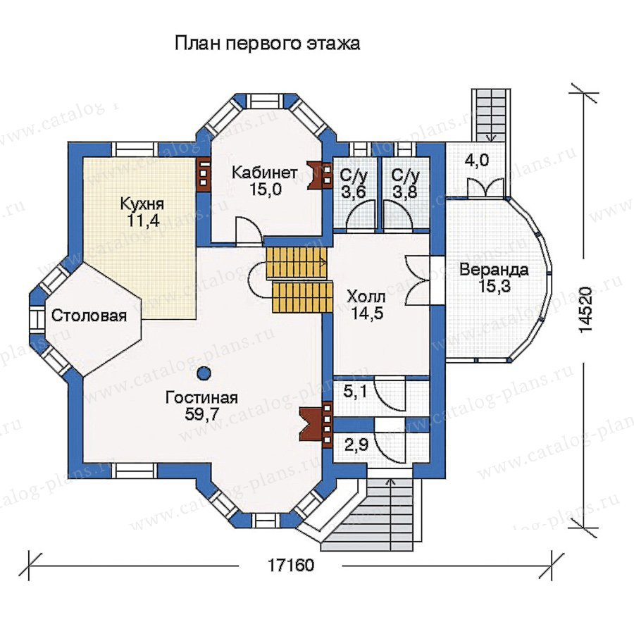 План 2-этажа проекта 50-69