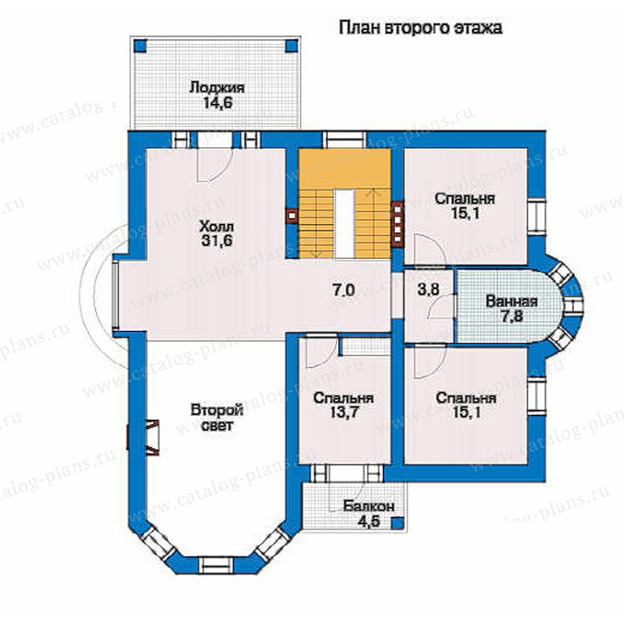 План 2-этажа проекта 51-25