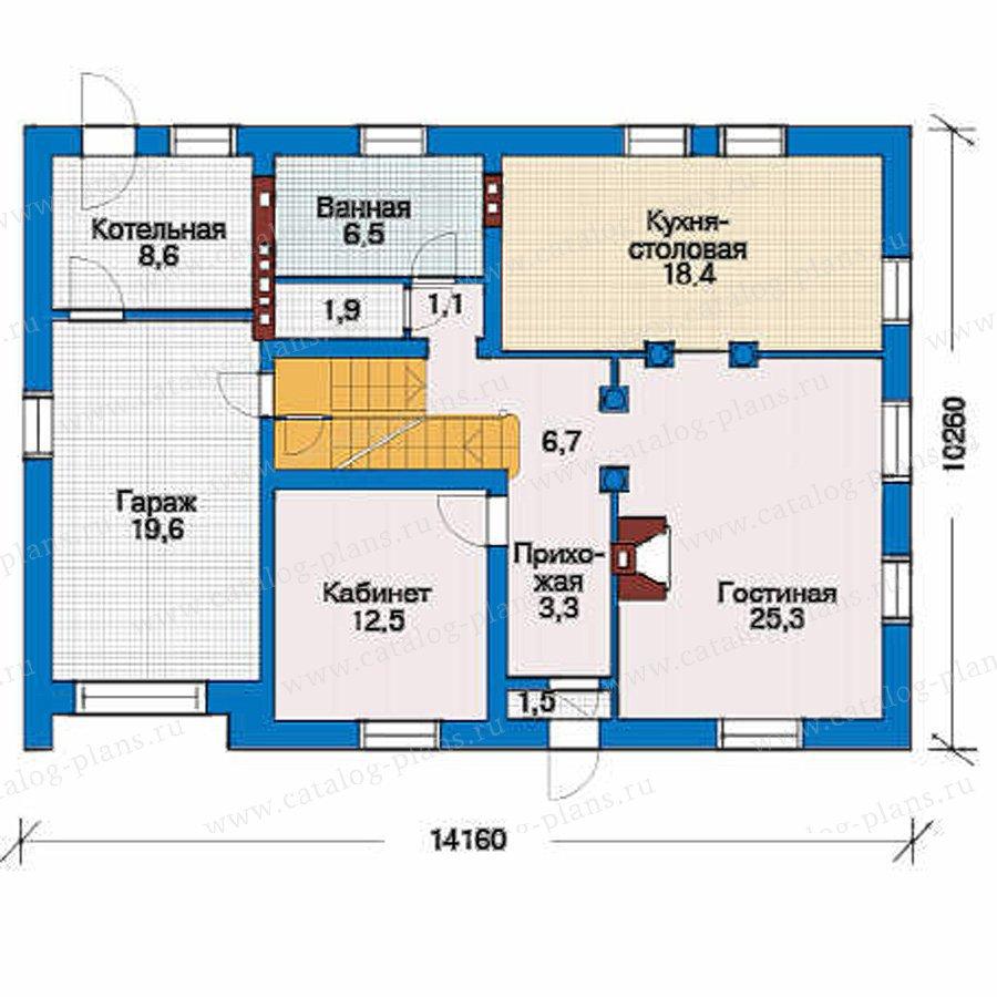 План 2-этажа проекта 51-22