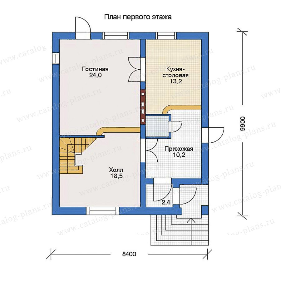 План 1-этажа проекта 51-04