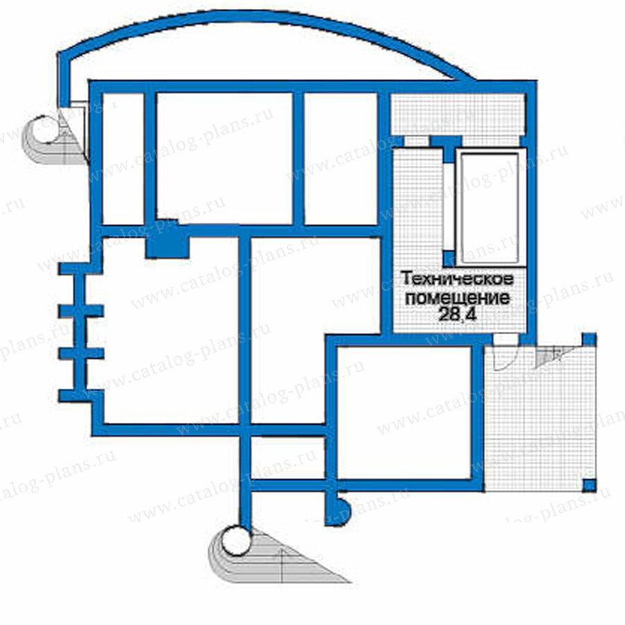План 1-этажа проекта 51-21