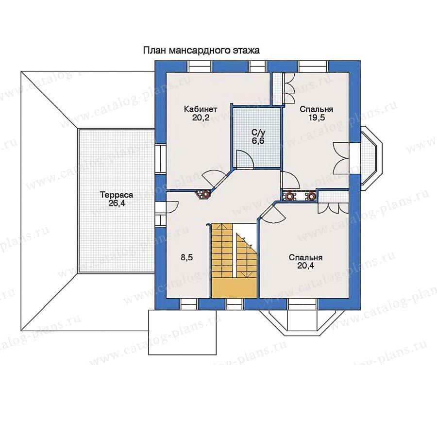 План 2-этажа проекта 51-18