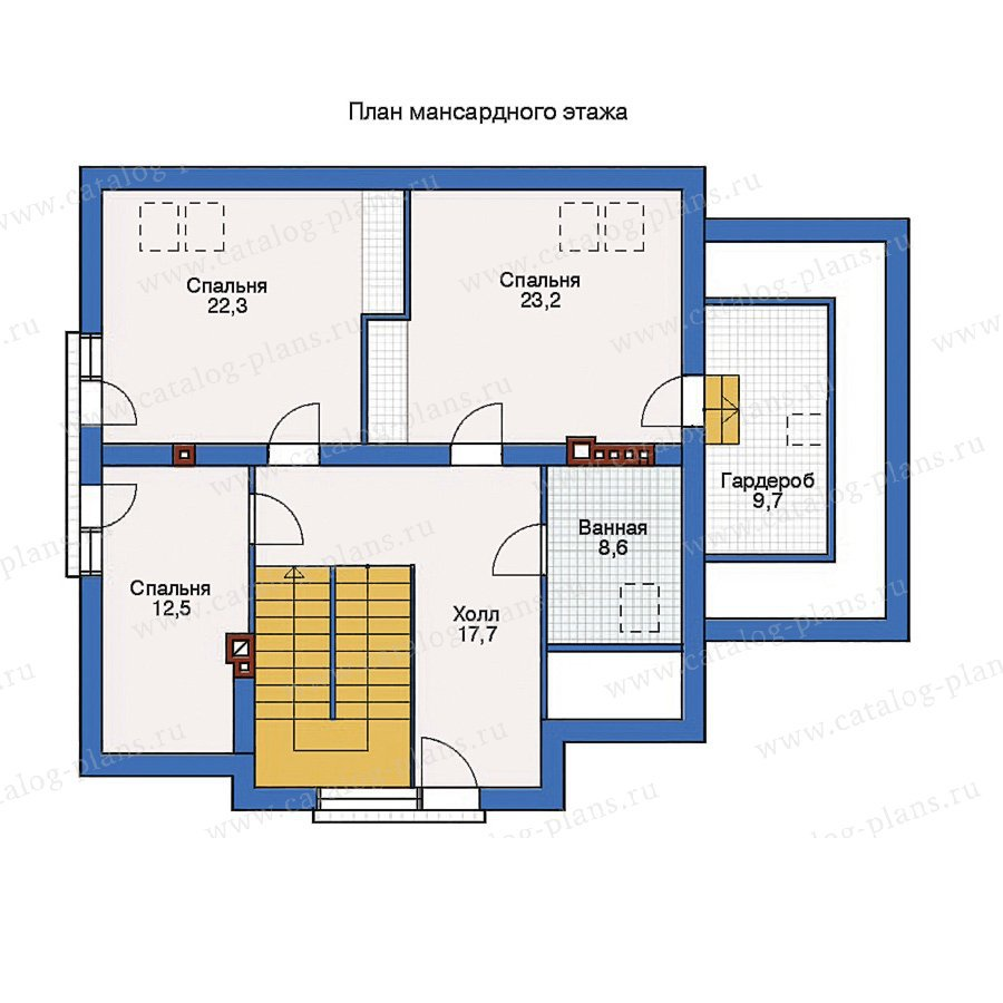 План 2-этажа проекта 50-86