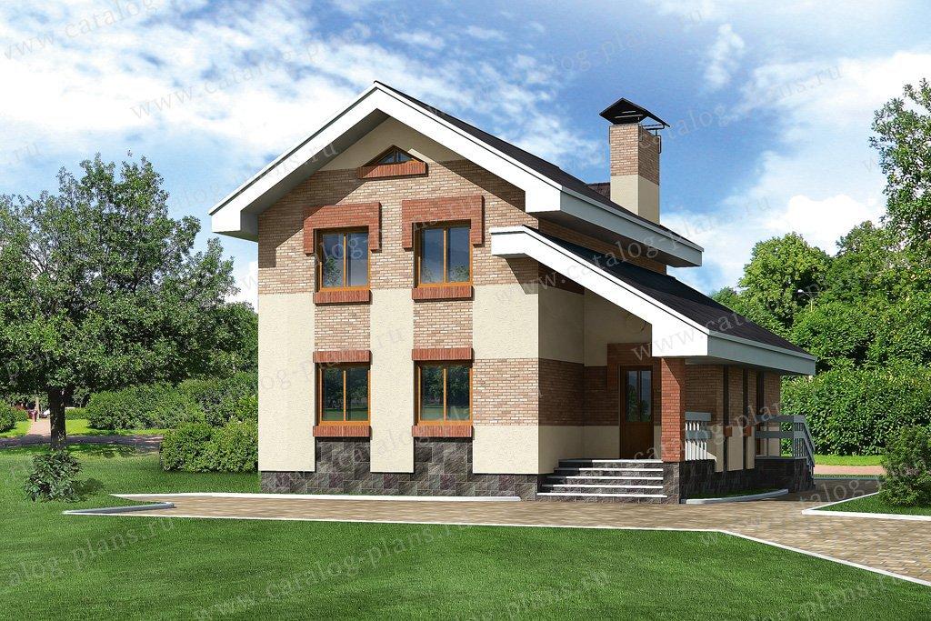 Проект жилой дом #51-03 материал - кирпич, стиль современный