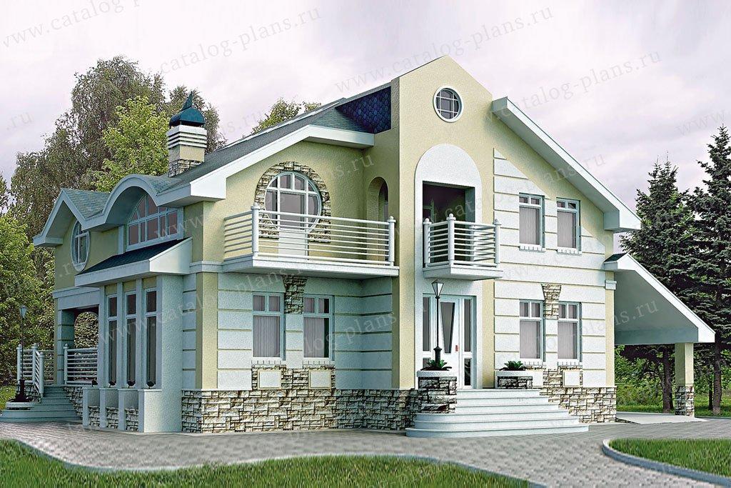 Проект жилой дом #51-21 материал - газобетон, стиль модерн